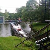O canal do log, Alton Towers Foto de Stock