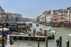 O canal grande, Veneza Fotografia de Stock Royalty Free