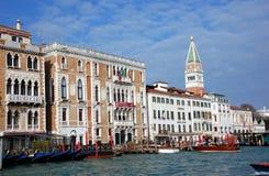 O canal grande, Veneza, Italy Fotografia de Stock