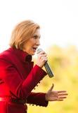 O candidato presidencial republicano Carly Fiorina faz campanha em Bedford, New Hampshire Fotos de Stock Royalty Free