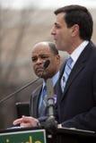 O candidato Sweeney do Senado escuta Fotos de Stock Royalty Free