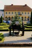 O canhão do século XVII no parque Foto de Stock Royalty Free