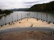 O canto alemão em Koblenz Fotografia de Stock