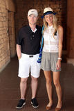 o Cantor-compositor Ronan Keating e sua esposa nova atacam Uechtritz Imagem de Stock