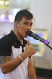 O cantor masculino estrangeiro Fotografia de Stock