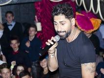 O cantor romeno conecta-r Foto de Stock Royalty Free