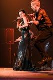 O cantor Slava executa na fase durante concerto do aniversário do ano de Viktor Drobysh o 50th em Barclay Center Imagem de Stock Royalty Free