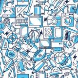 O caos objeta linhas ilustração sem emenda do vetor do teste padrão Fotografia de Stock Royalty Free