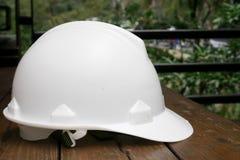O capacete de segurança branco Imagem de Stock