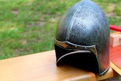 O capacete do cavaleiro Fotos de Stock Royalty Free
