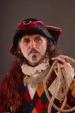 O capitão do pirata idoso fotos de stock