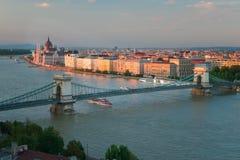 O capital bonito de Budapest em Hungria foto de stock
