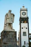 O capital do ` s da ilha com cânones diferentes dos monumentos e construções velhas Fotos de Stock Royalty Free