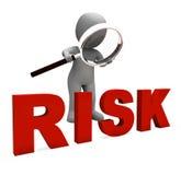 O caráter arriscado mostra o perigo ou o risco perigoso ilustração do vetor