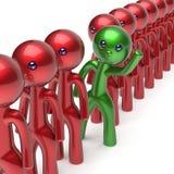 O caráter diferente dos povos do homem está para fora do ícone da multidão Imagens de Stock Royalty Free