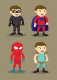 O caráter do super-herói traja a ilustração do vetor Fotos de Stock Royalty Free