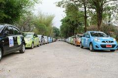A 4o caravana 2015 de Nissan Eco Foto de Stock