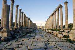 O Cardo Maximus em Jerash. Jordão Foto de Stock