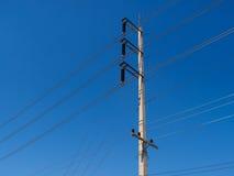 O cargo da eletricidade Fotos de Stock Royalty Free
