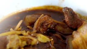 O caril, Hung Ley, e o espaço do norte tailandeses da carne de porco do estilo para escrevem o fraseio imagens de stock royalty free