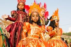 O carnaval anual na capital em Cabo Verde, Praia. Foto de Stock