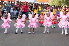 O carnaval anual na capital em Cabo Verde, Praia. Fotografia de Stock