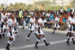 O carnaval anual na capital em Cabo Verde, Praia. Fotos de Stock Royalty Free