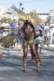 O carnaval anual na capital em Cabo Verde, Praia. Imagens de Stock Royalty Free