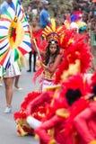 O carnaval anual na capital em Cabo Verde, Praia Foto de Stock