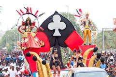 O carnaval anual na capital em Cabo Verde, Praia Foto de Stock Royalty Free