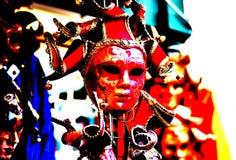 O carnaval chega as cores brilhantes decora os quadrados imagens de stock royalty free