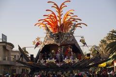 O carnaval de Viareggio fotografia de stock royalty free