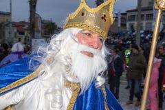O carnaval 2016 de Viareggio fotografia de stock