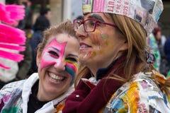 O carnaval 2016 de Viareggio Fotos de Stock Royalty Free
