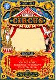 O carnaval do circo convida vetor do vintage o 2d