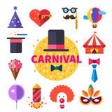 O carnaval engana, doces e sorrisos Foto de Stock Royalty Free