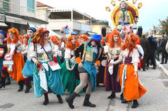 O carnaval mascara a parada foto de stock royalty free
