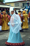 O carnaval mascara a parada fotografia de stock royalty free