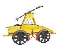 O carrinho de mão do trabalhador da estrada de ferro isolado imagens de stock