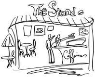 O carrinho do café [VETOR] Imagens de Stock