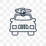O carro bonde e a tomada vector o ícone isolado no backgr transparente ilustração do vetor