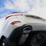 O carro cinzento. foto de stock royalty free