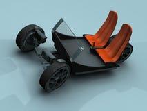 O carro da praia Imagens de Stock Royalty Free