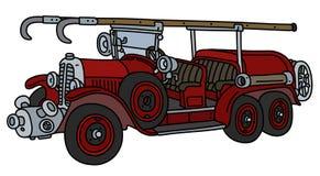 O carro de bombeiros do vintage ilustração do vetor