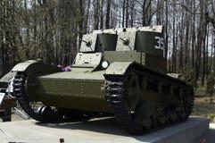 O carro de combate leve da dois-torreta Fotos de Stock Royalty Free