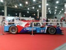 O carro de competência team SMP que compete o salão de beleza internacional 2018 do automóvel de Moscou Imagens de Stock Royalty Free