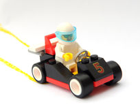 O carro de corridas do brinquedo Fotos de Stock Royalty Free