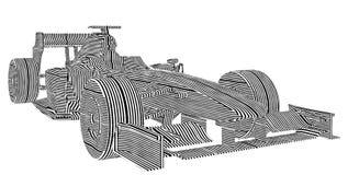 O carro de corridas listra o vetor Imagem de Stock Royalty Free
