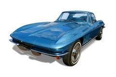 O carro de esportes clássico Corveta isolou-se foto de stock royalty free