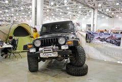 O carro de Jeep Wrangler II na expo 2012 do açafrão Imagem de Stock